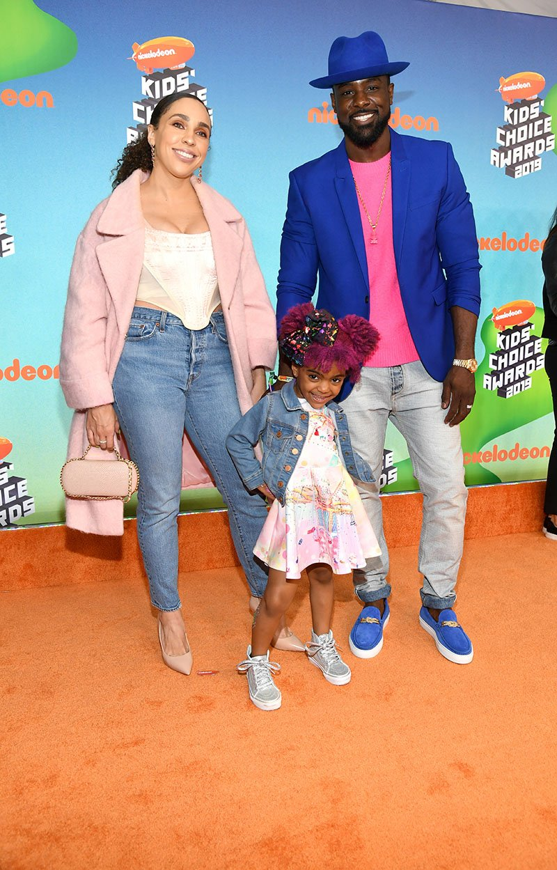 Rebecca Jefferson, Berkeley Gross, and Lance Gross attending Nickelodeon's Kids' Choice Awards at Galen Center in Los Angeles, California in March 2019. I Image: Getty Images.
