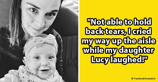 Mother thanks stranger who gave up first class plane seat for her & her sick baby in emotional post