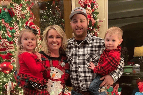 Colby Vondenstein and his family during Christmas. | Source: GoFundMe/HelpColbyFightCovid