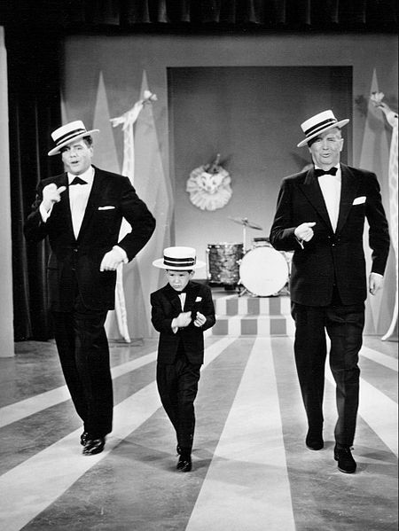 "Desi Arnaz, Richard Keith and Maurice Chevalier from ""The Lucy-Desi Comedy Hour."" 