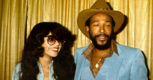 Marvin Gaye and wife Janis Gaye on October 31, Halloween, 1977 in Los Angeles, California. | Photo: Getty Images