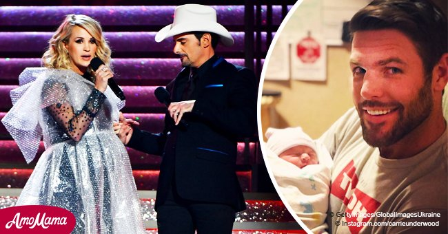 Brad Paisley jokes about Carrie Underwood's newborn son's name in a hilarious message