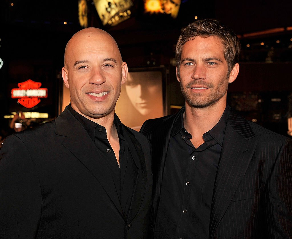 "Vin Diesel and Paul Walker arrive at the premiere Universal's ""Fast & Furious"" held at Universal CityWalk Theaters. 