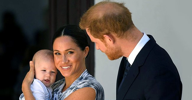 Meghan Markle, Archie and Prince Harry pictured visiting the Desmond & Leah Tutu Legacy Foundation, 2019, Cape Town.   Photo: Getty Images