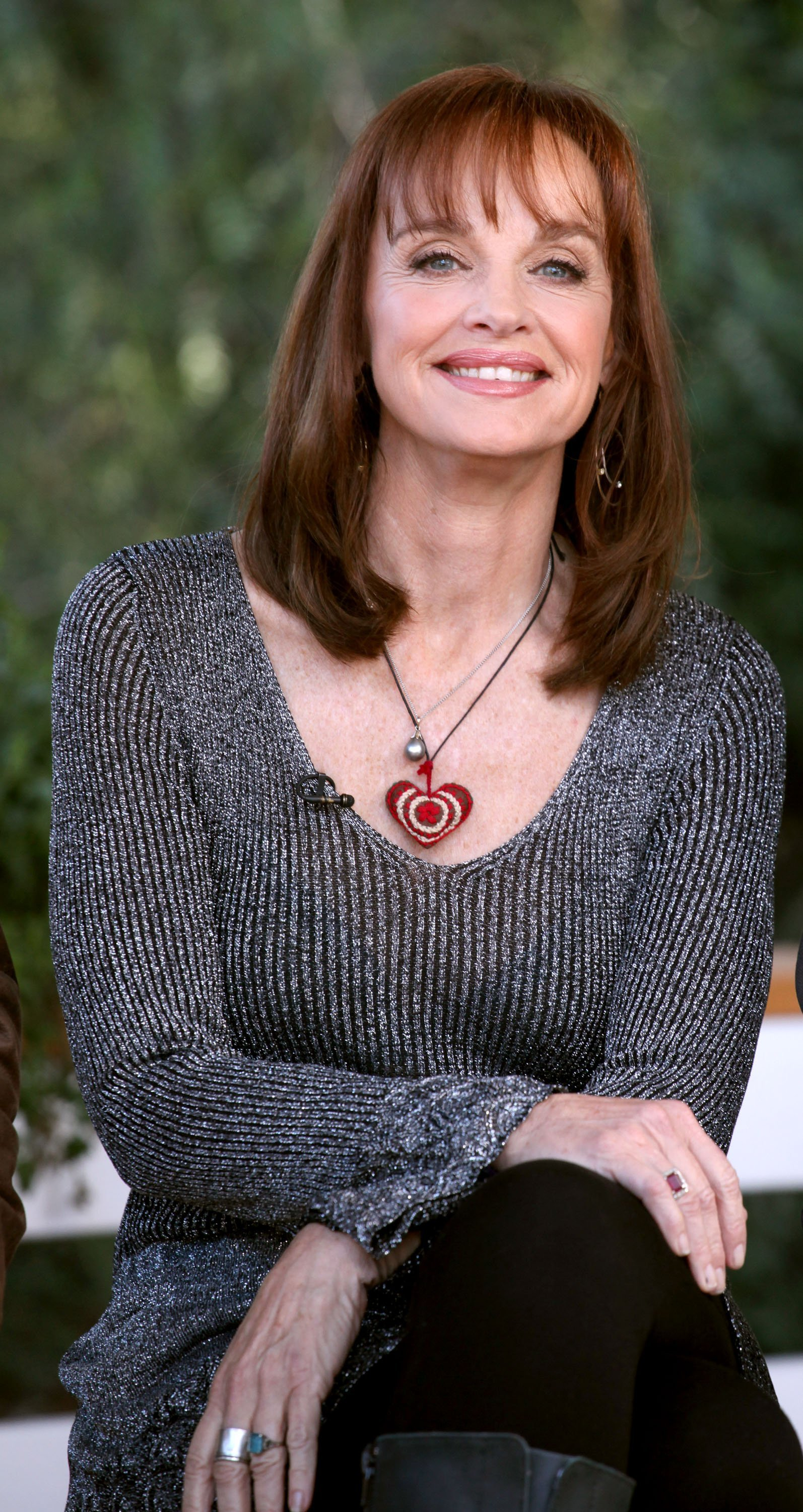 """Pamela Sue Martin on the set of """"Dynasty"""" Reunion on """"Home & Family"""" at Universal Studios