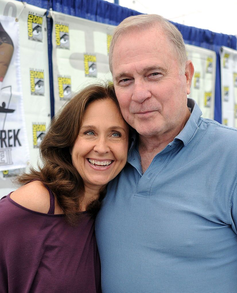 Gil Gerard and Erin Gray are seen around Comic-Con 2010 on July 23, 2010 in San Diego, California. | Source: Getty Images