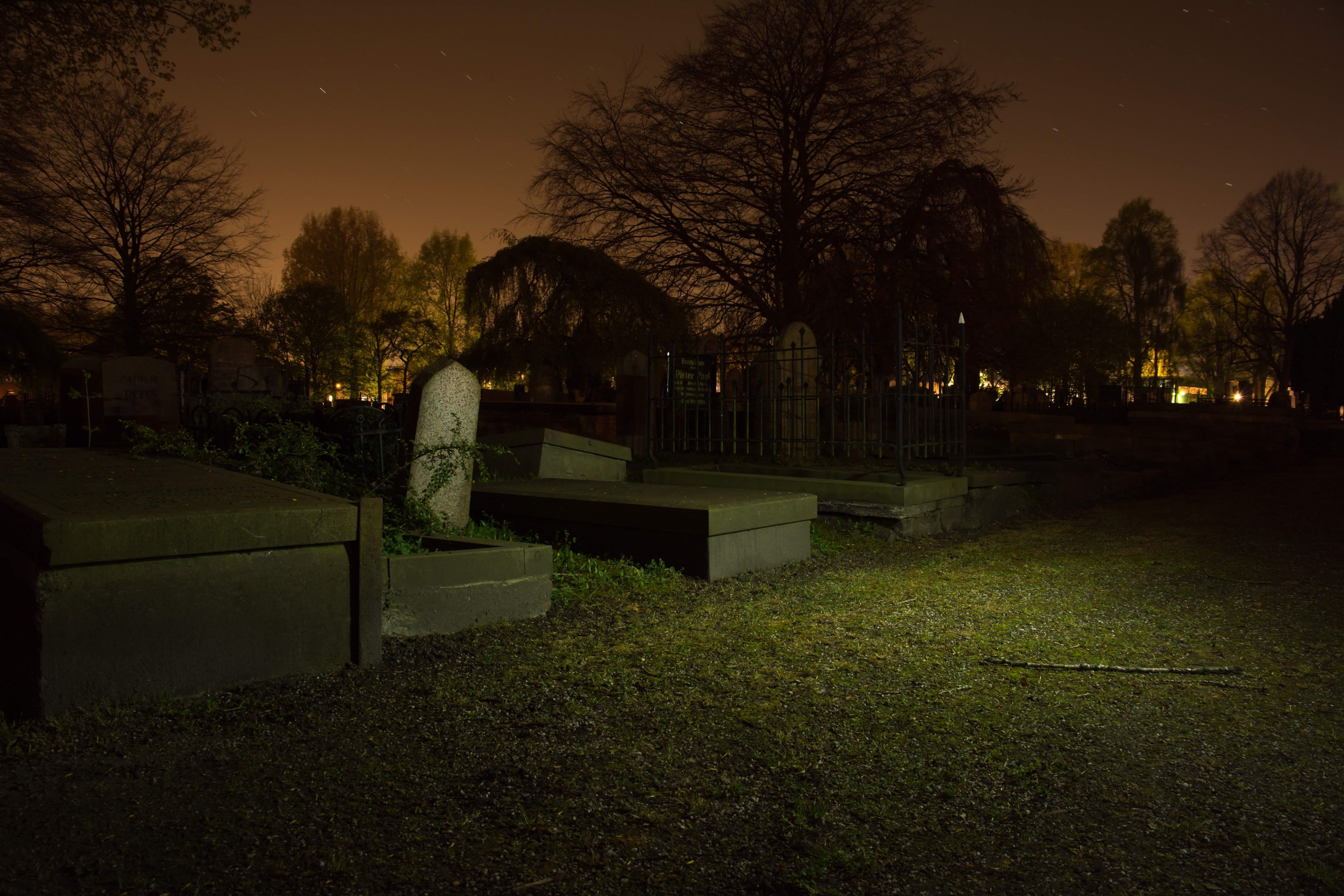 Cemetery at night. | Source: Pexels