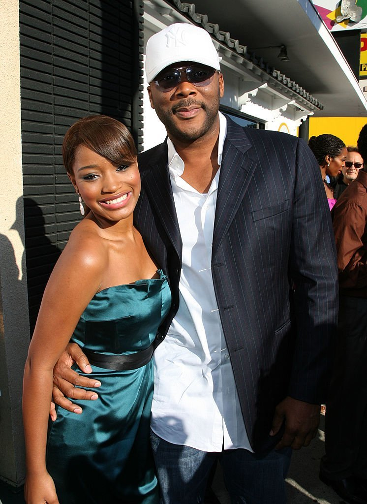 Keke Palmer & Tyler Perry at the premiere of 'The Longshots' on Aug. 20, 2008 in Westwood, California.  Photo: Getty Images