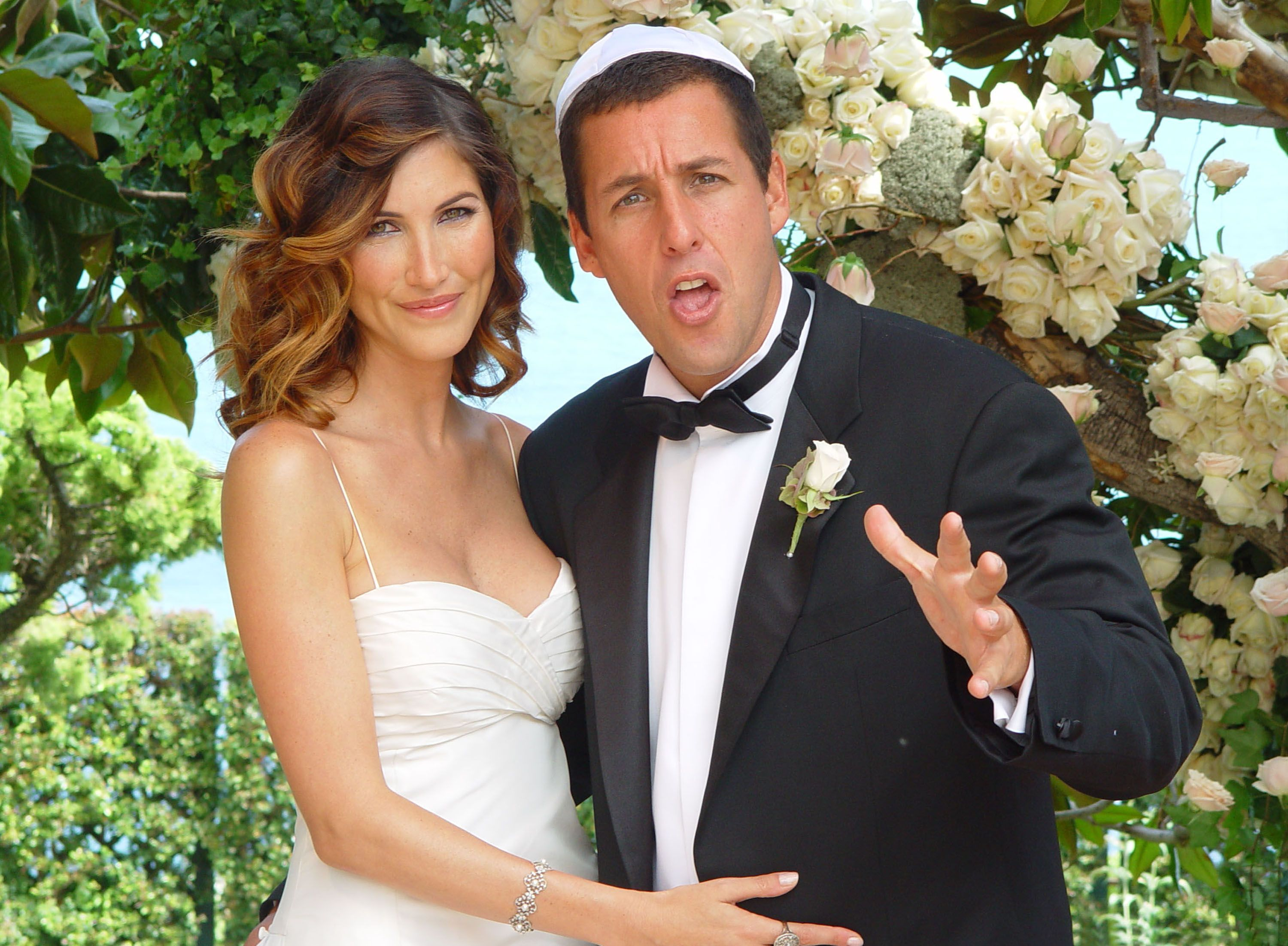 Adam Sandler and Jackie Titone on their wedding day in 2003 | Souce: Getty Images