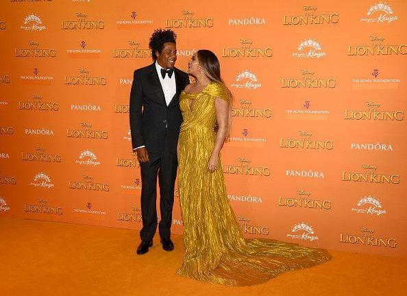 """Beyonce Knowles-Carter and Jay-Z attend the European Premiere of Disney's """"The Lion King"""" 