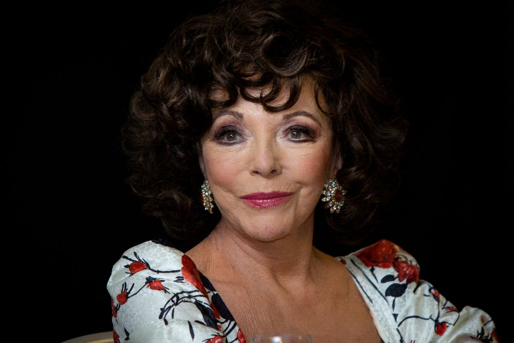 """Joan Collins attending """"Glow & Darkness"""" photocall in Madrid, Spain, in October 2020.   Image: Getty Images."""