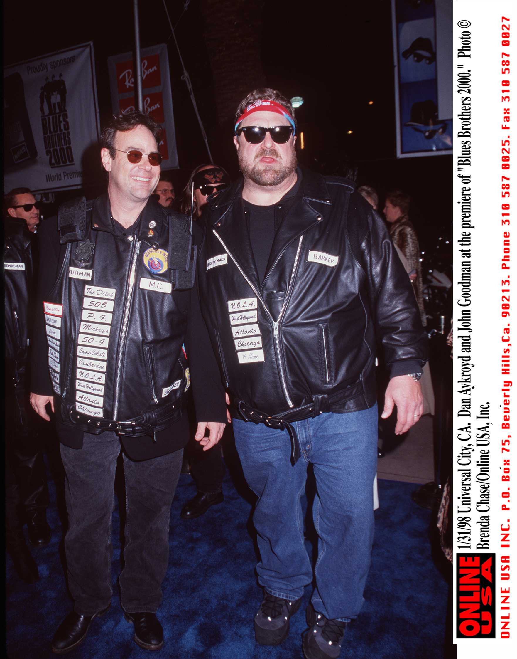 """Dan Aykroyd and John Goodman attend the premiere of """"Blues Brothers 2000"""" 