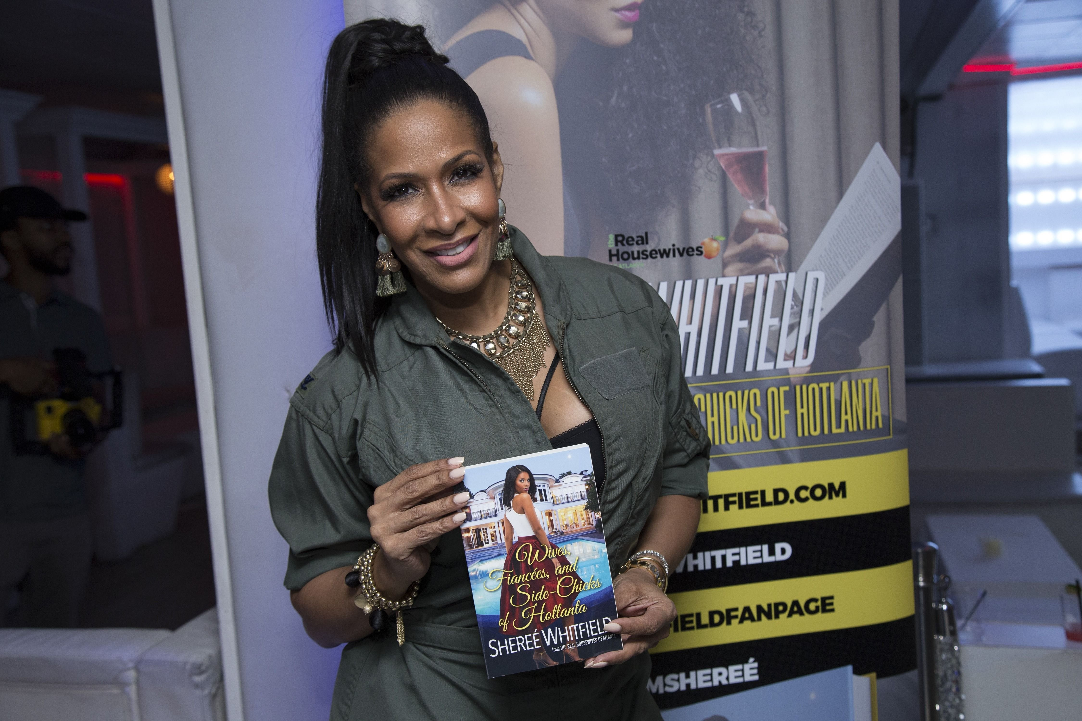 """Sheree' Whitfield at an event for her book """"Wives, Fiancees and Side-Chicks of Hotlanta"""" in  2017 in Washington, D.C. 