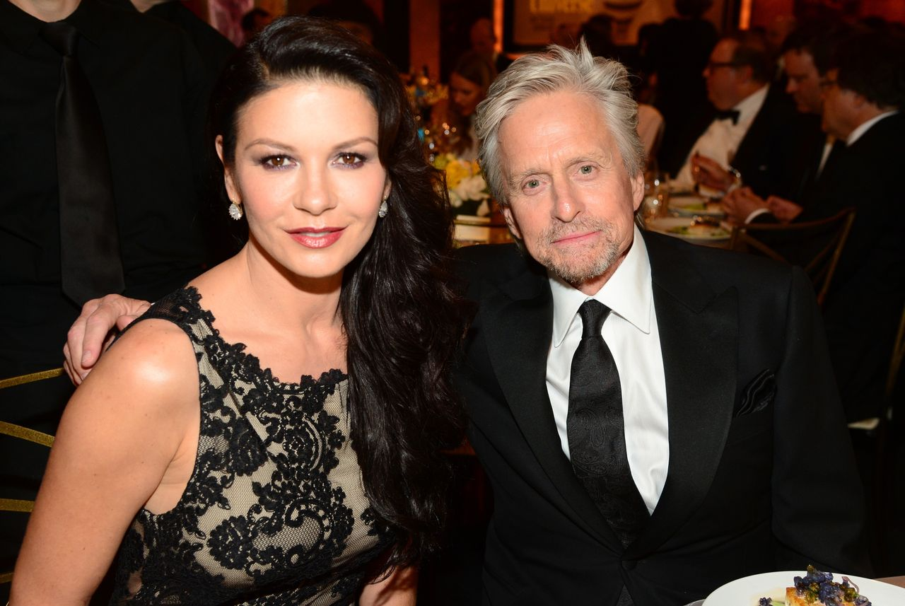 Catherine Zeta-Jones and Michael Douglas at the 2014 AFI Life Achievement Award: A Tribute to Jane Fonda at the Dolby Theatre on June 5, 2014 in Hollywood, California | Photo: Getty Images