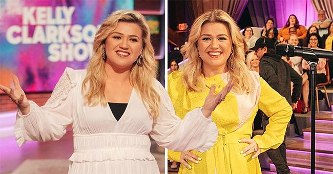 Kelly Clarkson Just Shared Sweet Photos of Herself in Stunning Looks Worn on Her Talk Show