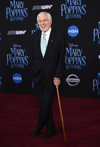 "Dick Van Dyke at the premiere of Disney's ""Mary Poppins Returns"" on November 29, 2018 