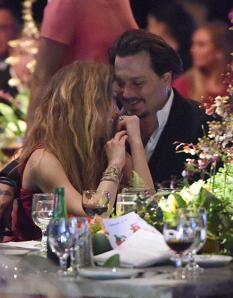 "Amber Heard und Johnny Depp, ""The Art of Elysium"", Culver City, 2016 | Quelle: Getty Images"