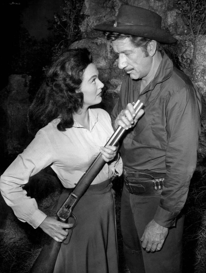 "Richard Boone as Paladin and guest star Patricia Medina from the television program ""Have Gun, Will Travel"" on June 24, 1960 