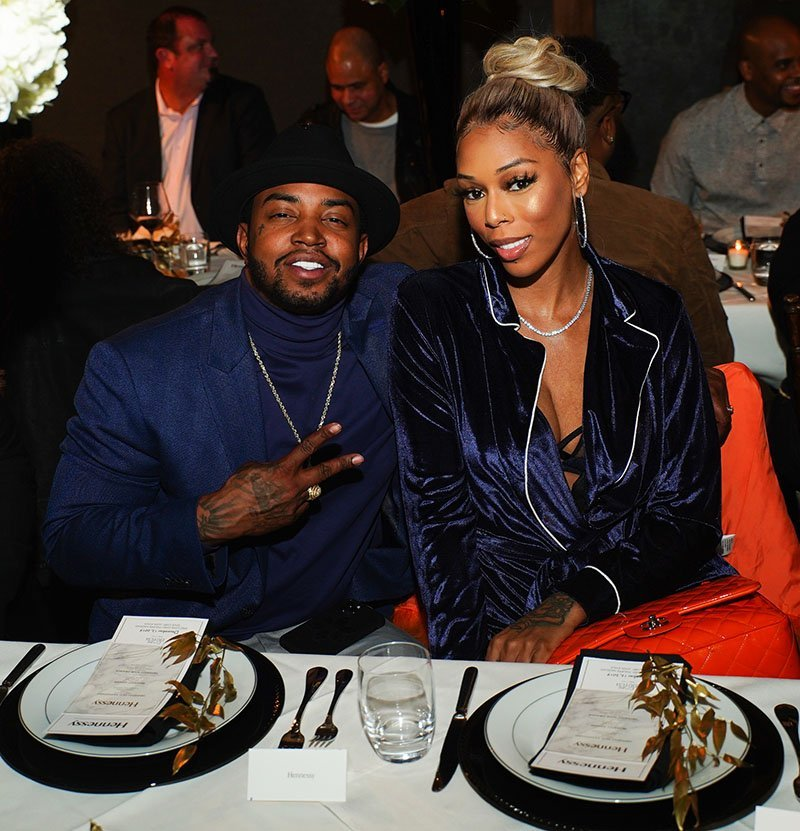 Rapper Lil Scrappy and his wife Adiz 'Bambi' Benson attend the 2019 BMI Holiday Event at Cape Dutch in Atlanta, Georgia in December 2019.   Source: Getty Images.