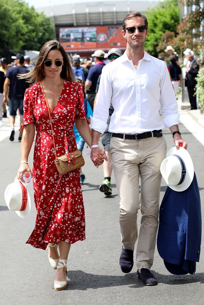 Pippa Middleton and James Matthews at Roland Garros on May 27, 2018 in Paris, France | Photo: Getty Images