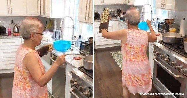 Cette mamie a surpris sa famille avec une danse hilarante pendant qu'elle cuisinait