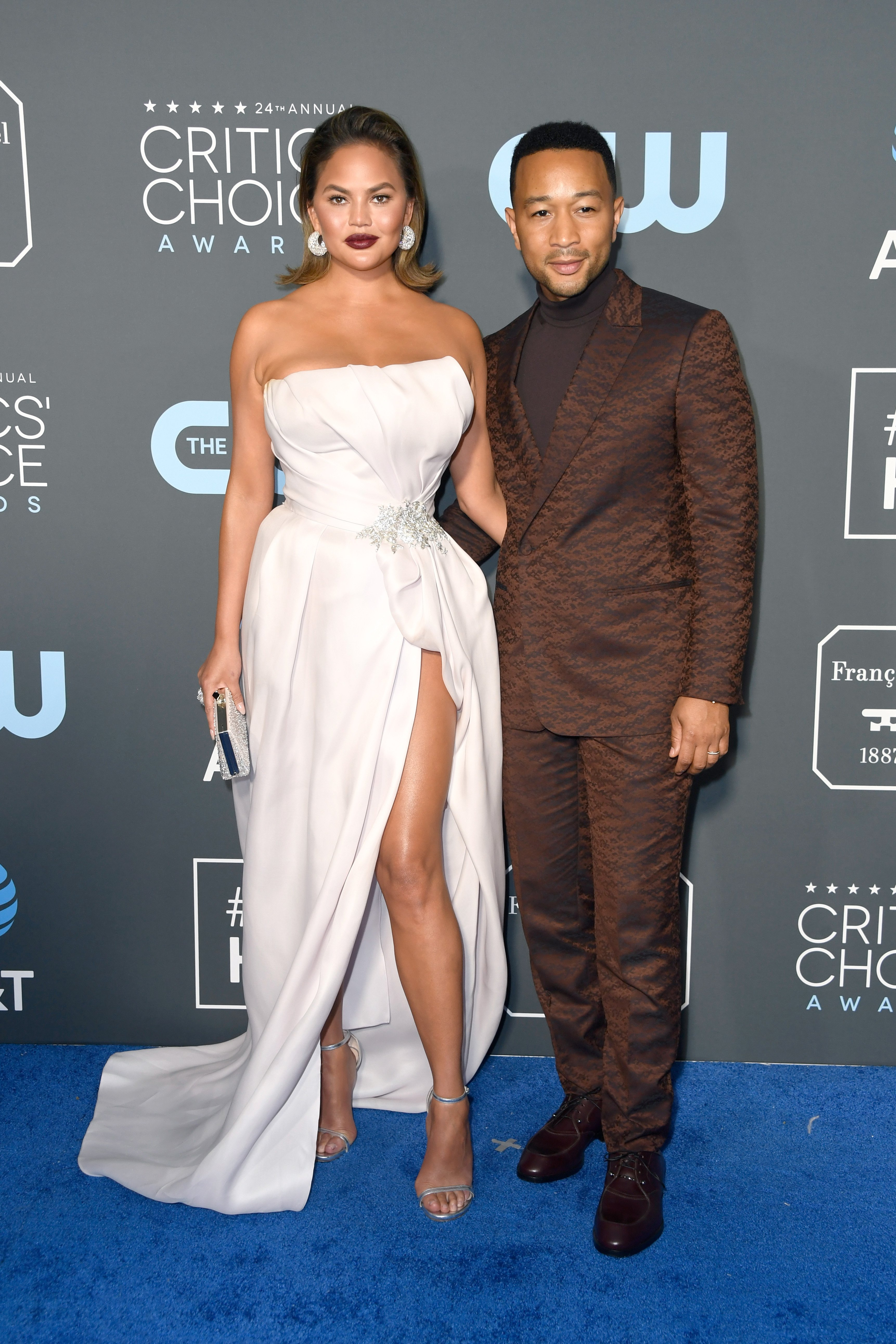 Chrissy Teigen and John Legend at the 24th annual Critics' Choice Awards 2019 in California | Source: Getty Images