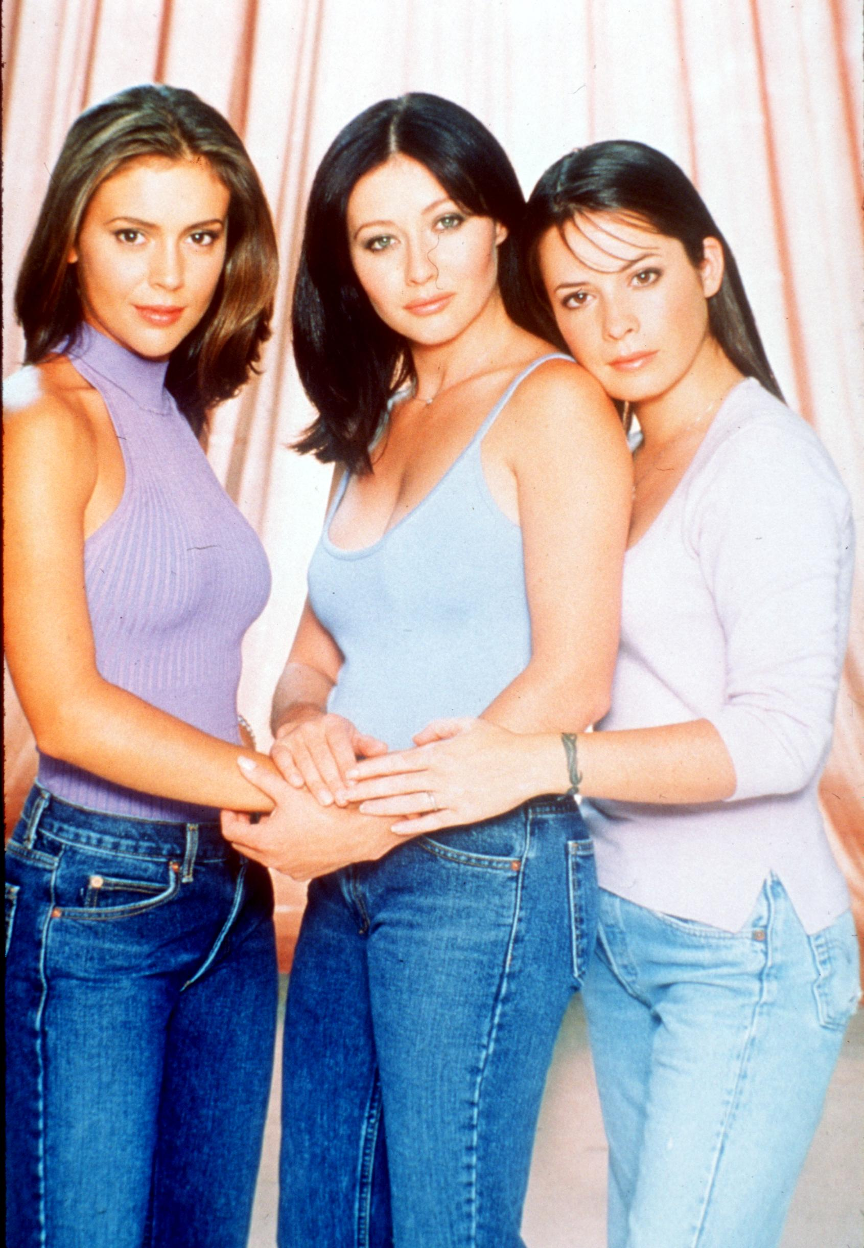 """Alyssa Milano, Holly Marie Combs, Shannen Doherty from the television show """"Charmed"""" in 1999.   Source: Getty Images."""