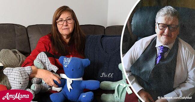 Anciana mujer de 65 años regala a nietos juguetes de felpa rellenos de las cenizas de su marido