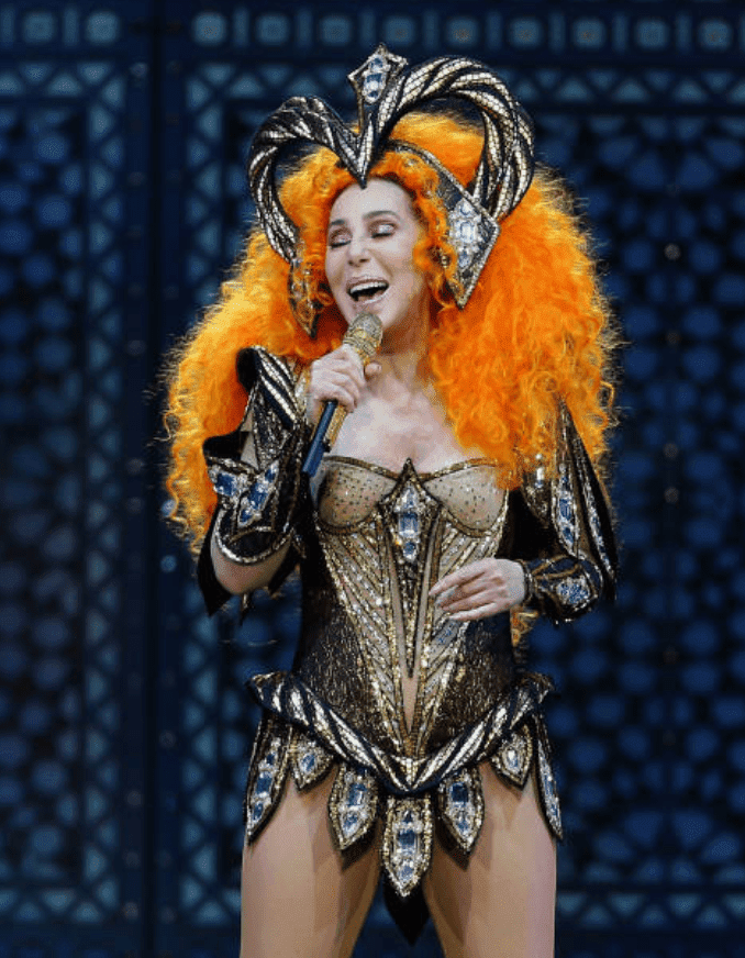 For her farewell tour, Cher performs in a sequence grecian corset dress, at Qudos Bank Arena, on October 18, 2018, in Sydney, Australia | Source: Getty Images (Photo by Don Arnold/WireImage)