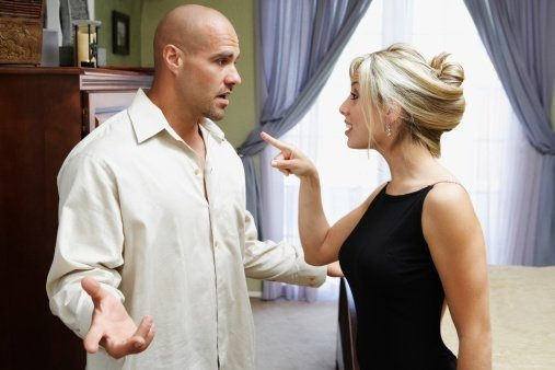 Photo of couple having a heated discussion   Photo: Getty Images