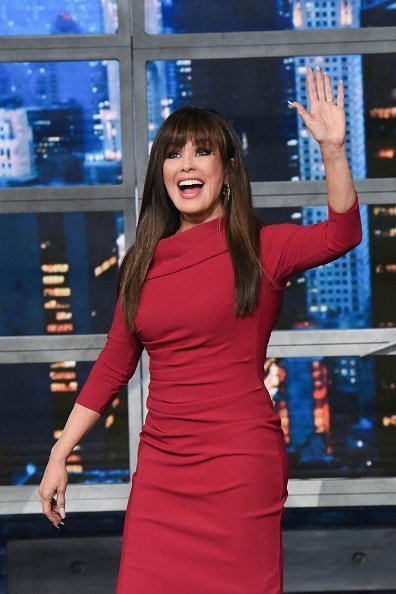 Marie Osmond on set of The Late Show with Stephen Colbert | Photo: Getty Images