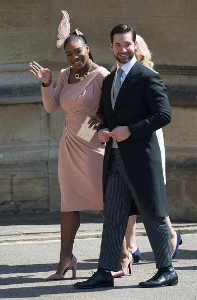 Serena Williams and Alexis Ohanian at the wedding of Prince Harry to Meghan Markle | Photo: Getty Images