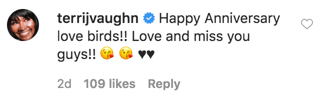 Terri J. Vaughn commented on a video shared by David Mann and Tamela Mann dancing in honor of their 32nd wedding anniversary | Source: Instagram.com/davidandtamela