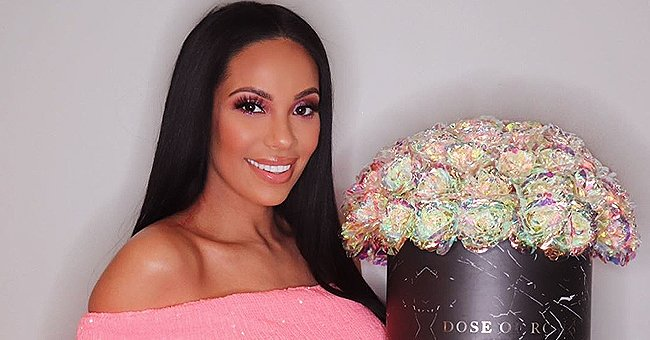 Erica Mena from LHHNY Is All Smiles as She Flaunts Baby Bump in Sparkly Pink Dress in Photo