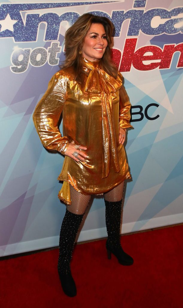 "Shania Twain attends NBC's ""America's Got Talent"" season 12 finale. 