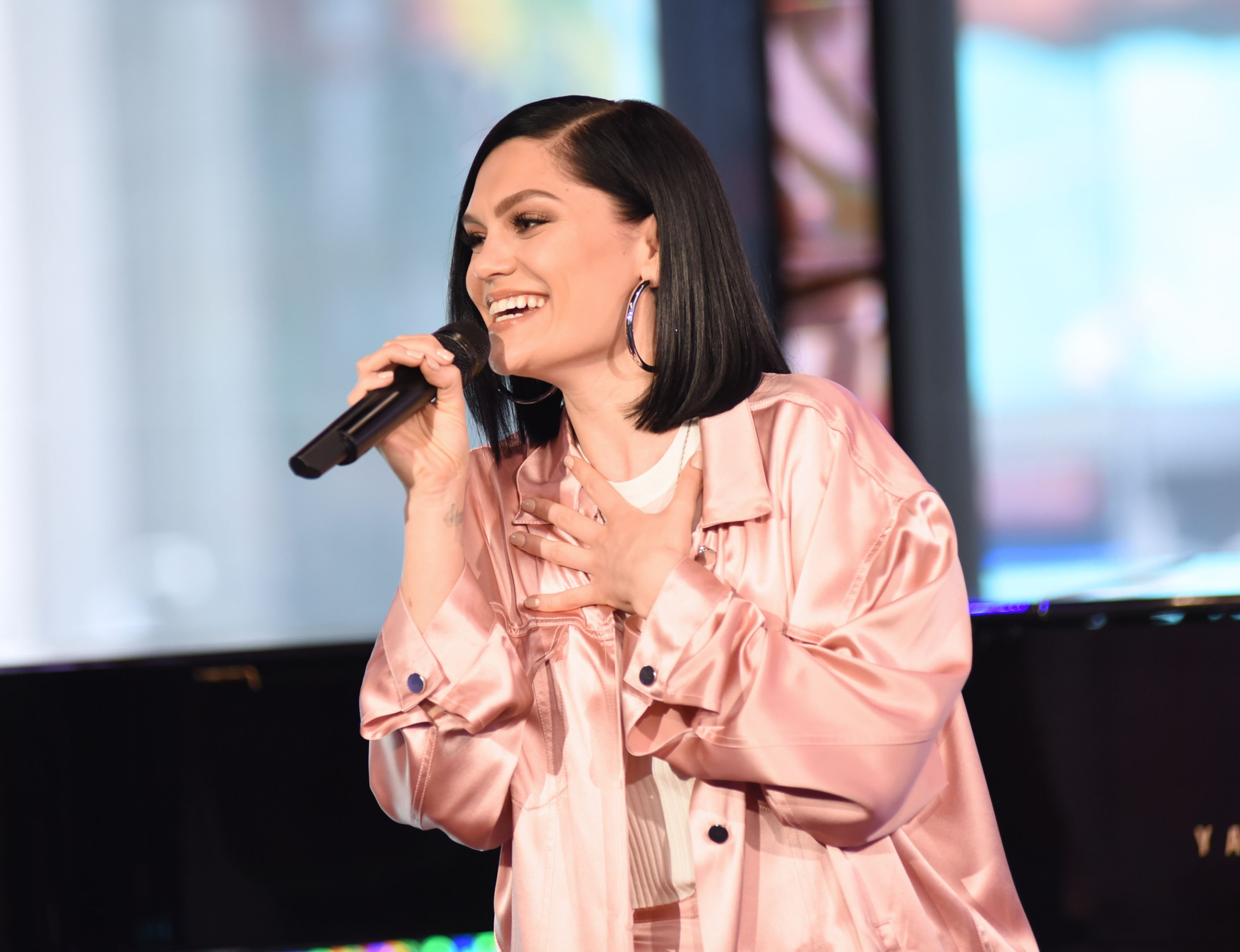"""Jessie J performs live on """"Good Morning America,"""" on Tuesday, April 29, 2018 