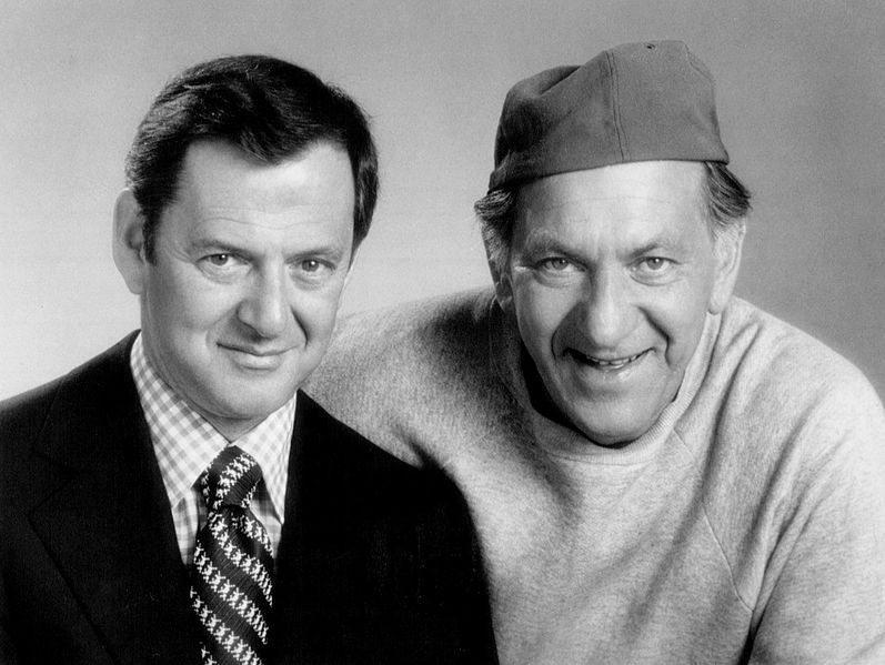 """Tony Randall and Jack Klugman from the television series """"The Odd Couple."""" 