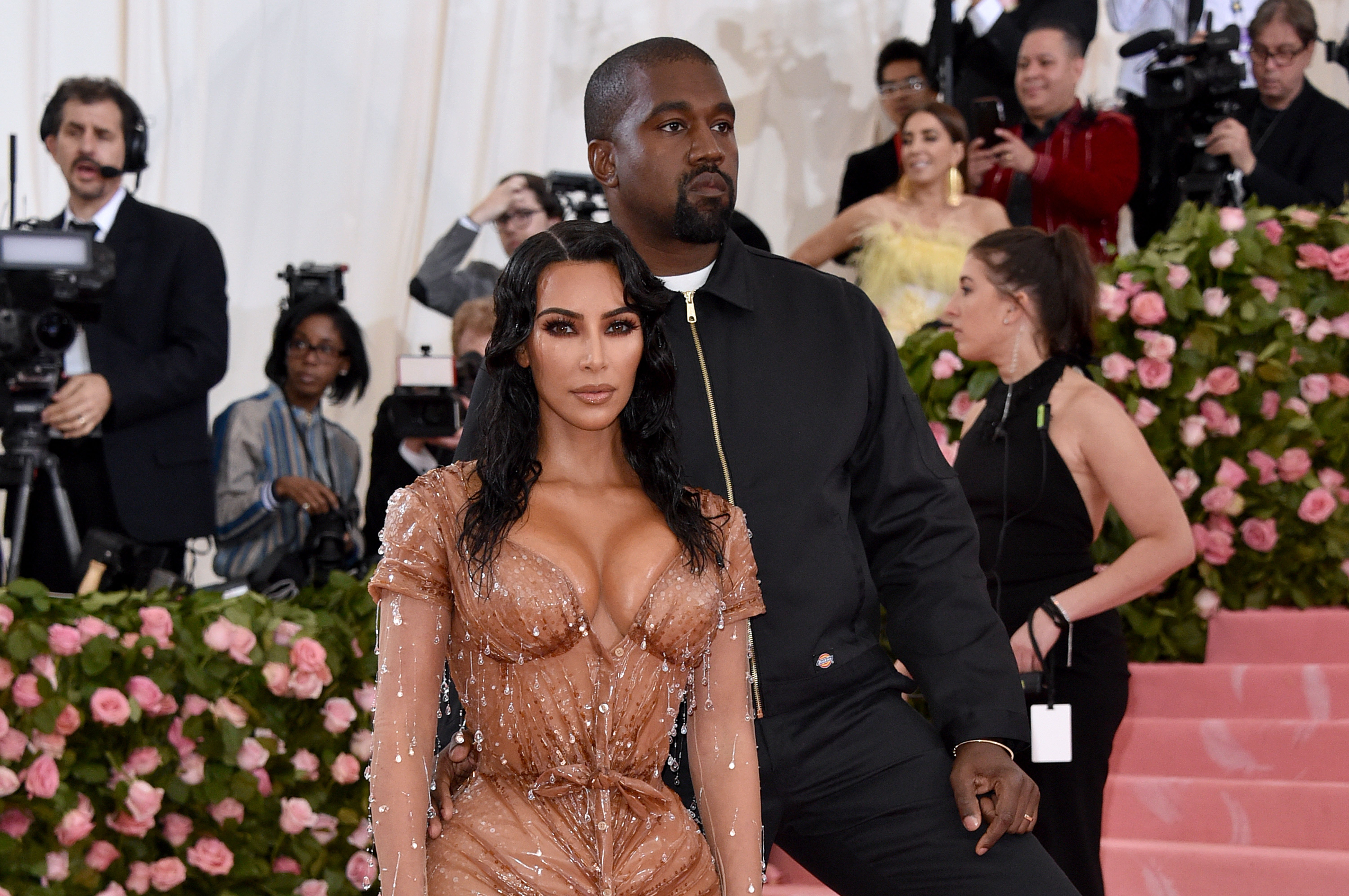 Kanye West and Kim Kardashian on the red carpet at the 2019 Met Gala, New York. | Photo: Getty Images