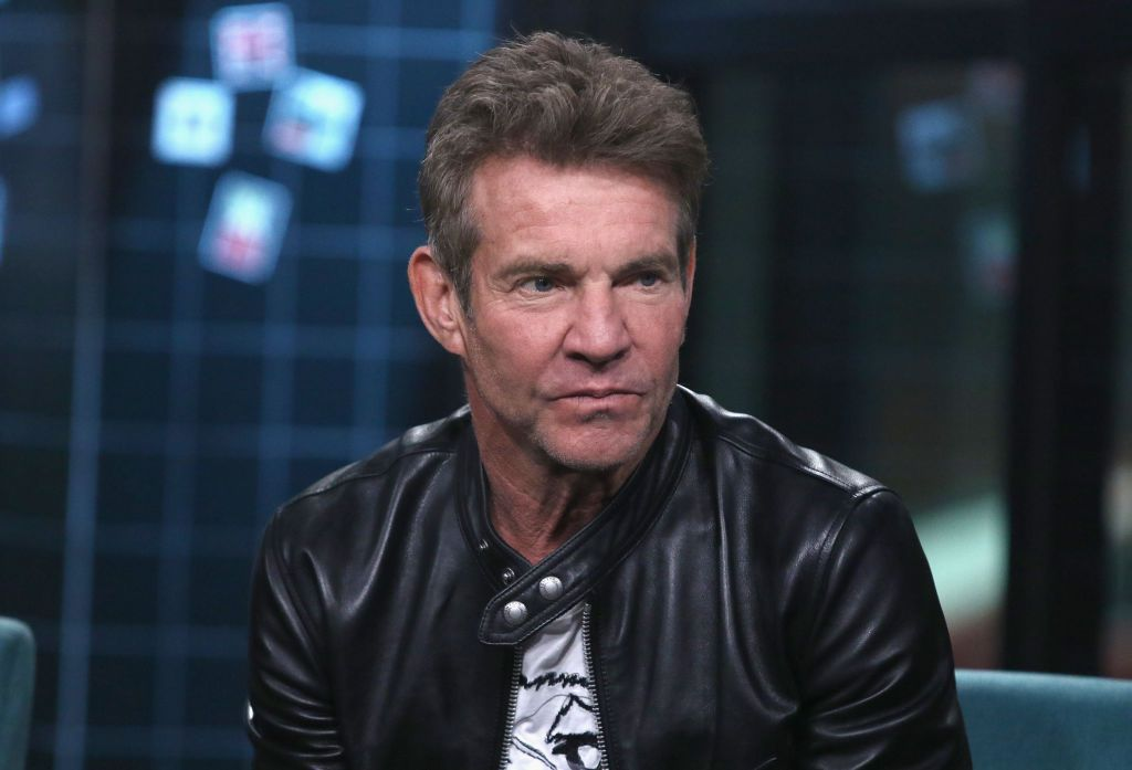"Dennis Quaid at the Build Series discussing ""Out of the Box"" on November 30, 2018, in New York City 