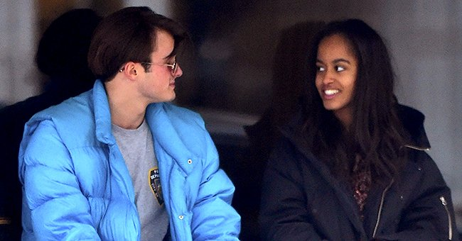 Barack & Michelle Obama's Daughter Malia Spotted Puffing on a Cigarette with British Boyfriend Rory Farquharson
