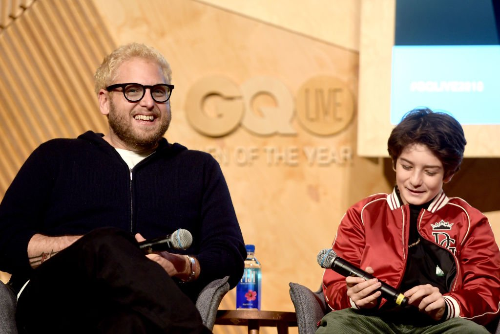 Jonah Hill and Sunny Suljic speak onstage at GQ Live - The World Of Jonah Hill With The Cast Of 'Mid90s' , December 2018   Source: Getty Images