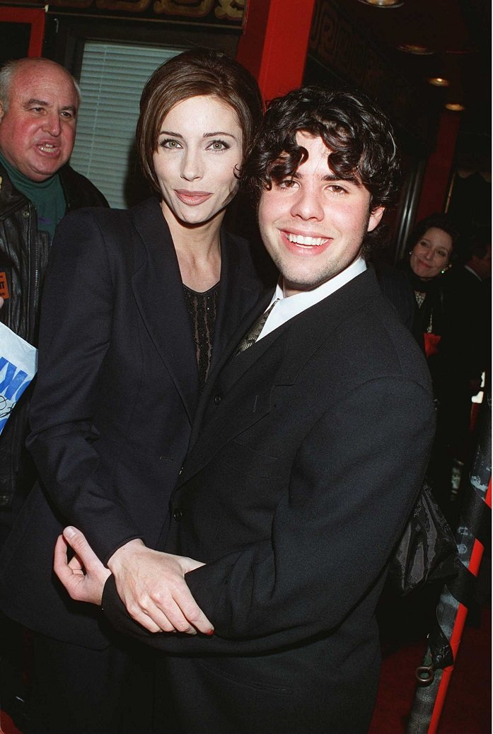 Jennifer Flavin with Sylvester Stallone's son Sage in Los Angeles, California on May 12, 1996   Source: Getty Images