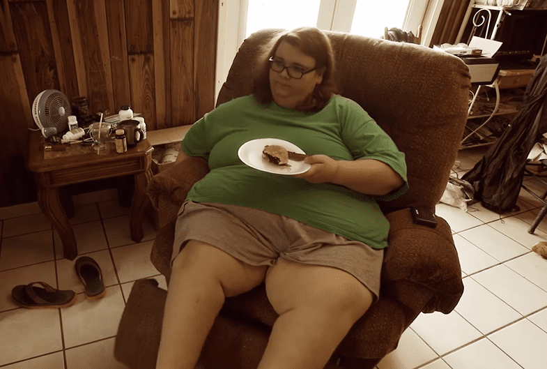 """Chay Guillory during a 2018 episode of """"My 600-Lb Life.""""   Photo: YouTube/TLC UK"""