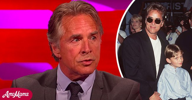 Don Johnson in an interview with Graham Norton in 2014 and with his son, Jesse Johnson, in 1996   Photo: Getty Images - YouTube/GIRLZ ALOUD