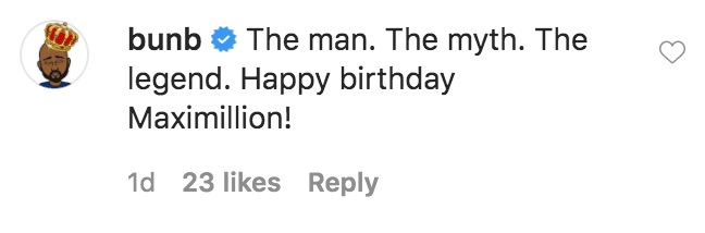 Bun B commented on Eve's photo of her husband Maximillion in Cube   Source: Instagram.com/therealeve