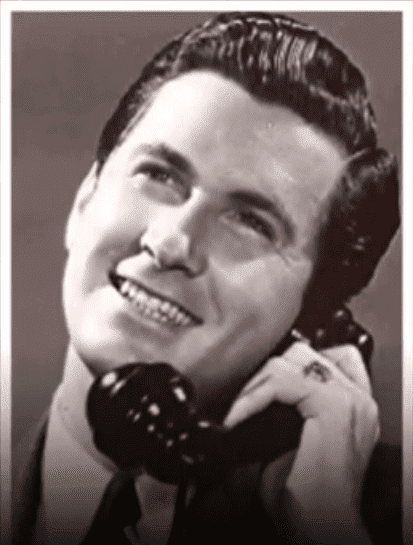Betty White's second ex-husband Lane Allen making a phone call while on set | Photo:  Youtube/Agent Of Star