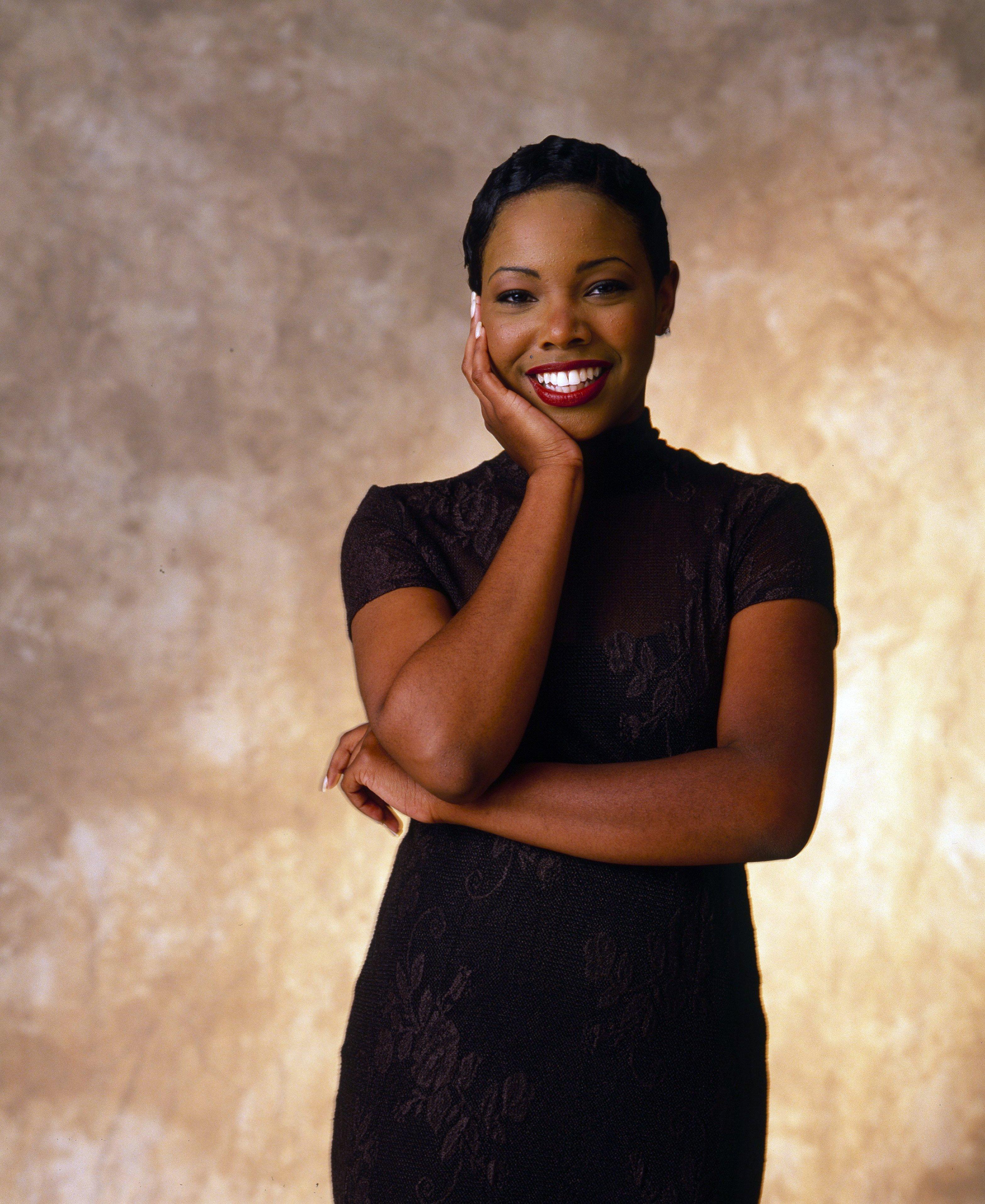 """Kellie Shanygne Williams poses for a photograph at a """"Family Matters"""" shoot on July 24, 1995. 