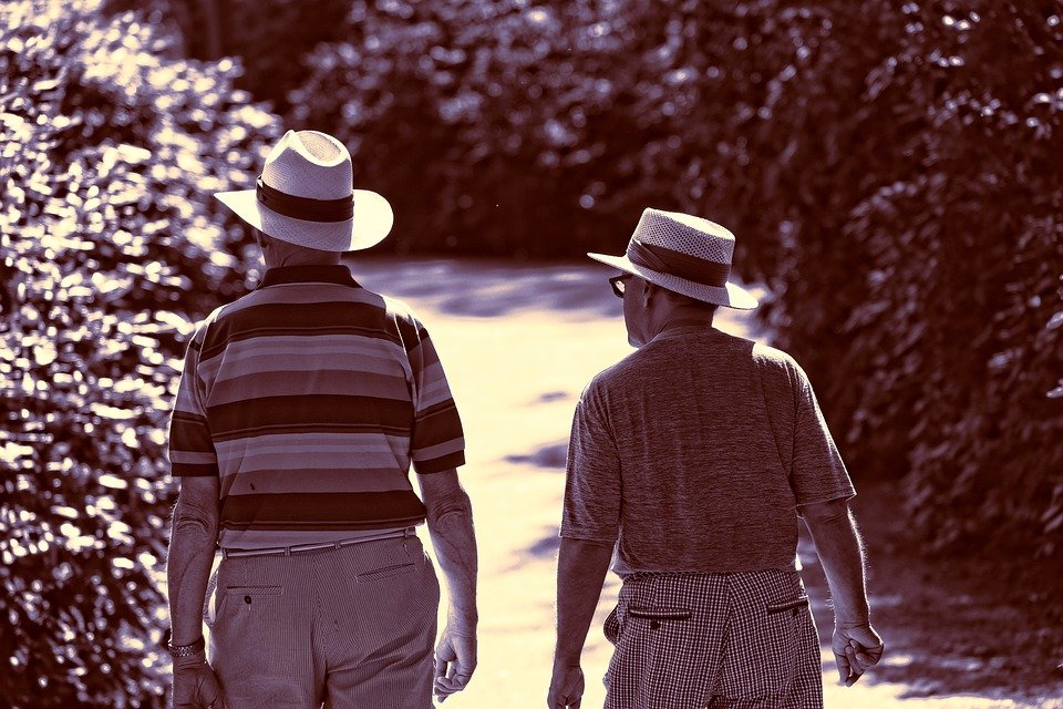 Two men walking on the road. | Photo: pixabay.com
