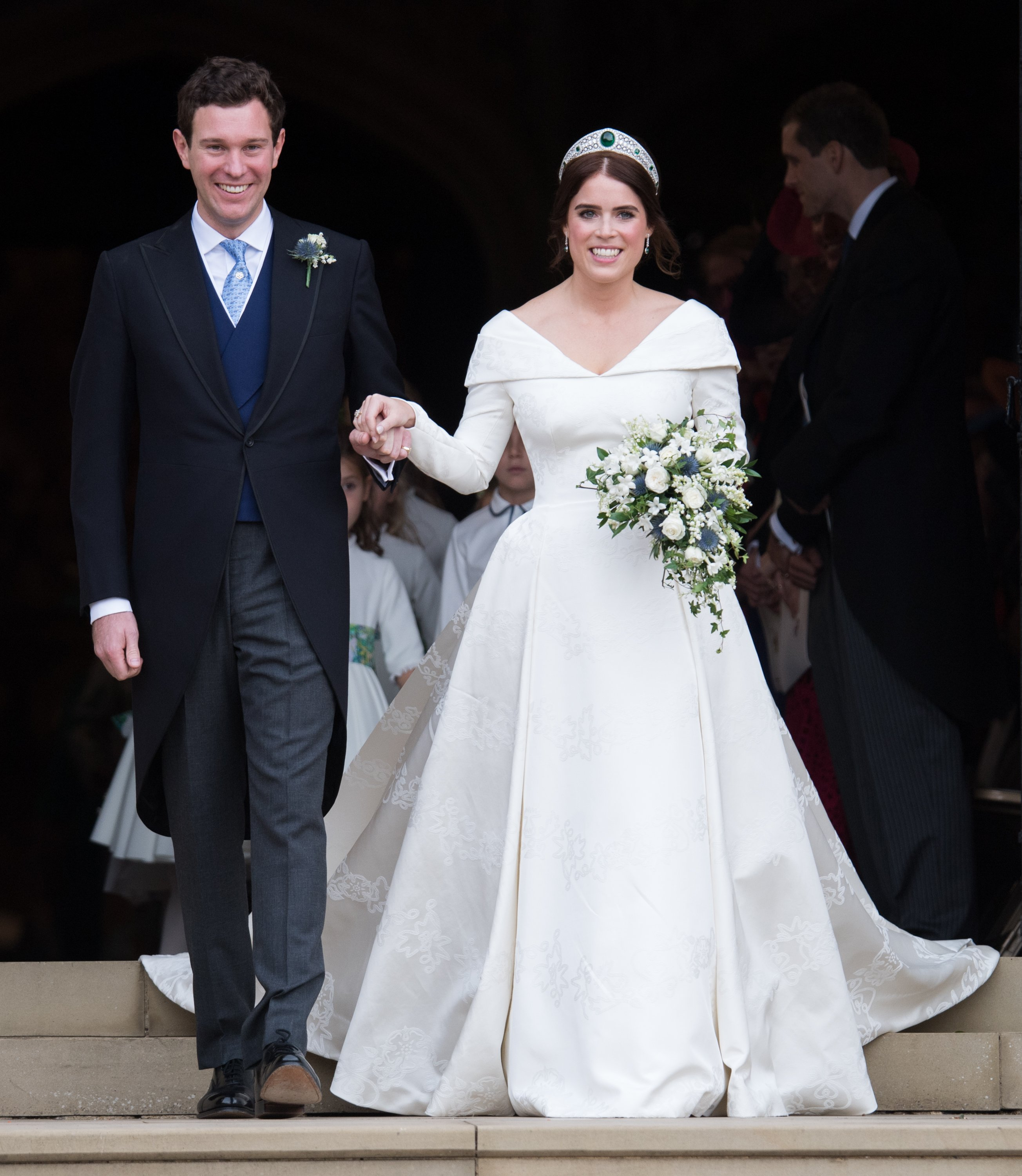 Princess Eugnie and her husband, Jack Brooksbank on their wedding day at St Georges Cathedral, October, 2018. | Photo: Getty Images.