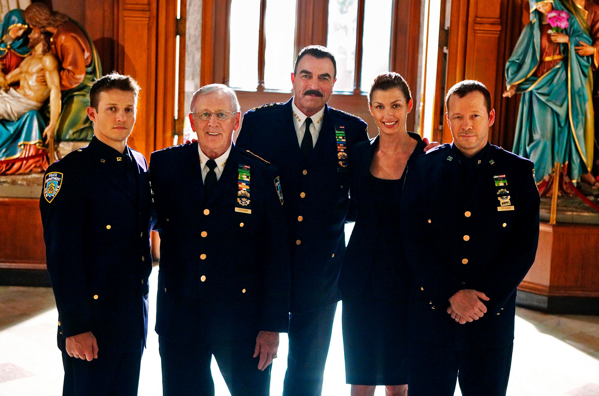 "The Regan family of ""Blue bloods"" all in blue on the CBS Television Network. 